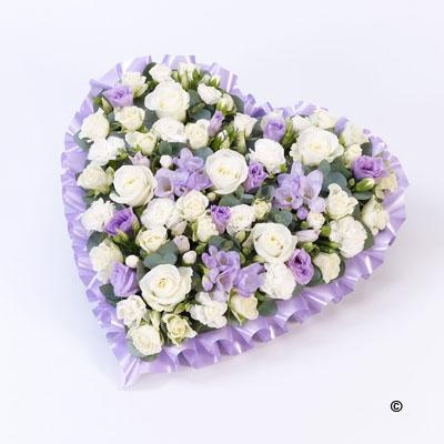 Pastel Heart   Lilac and White *