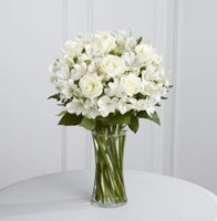 White Rose and Alstroemeria Vase *