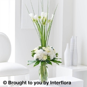 Sophisticated Calla Lily & Rose Vase